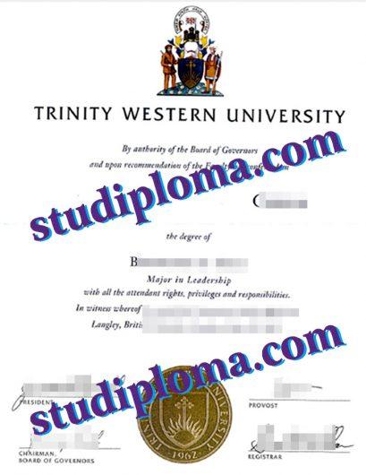 buy Trinity Western University diploma