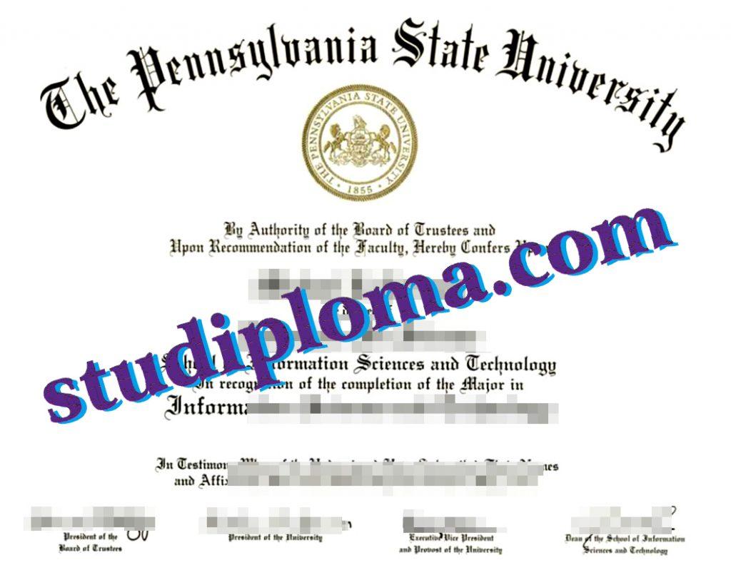 fake PSU diploma