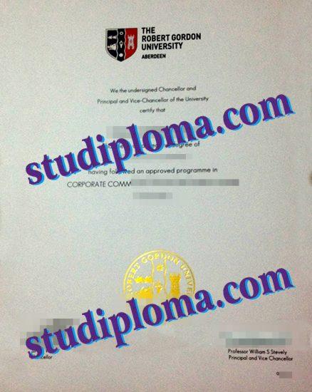 buy RGU diploma