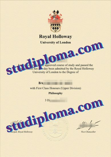 Royal Holloway certificate