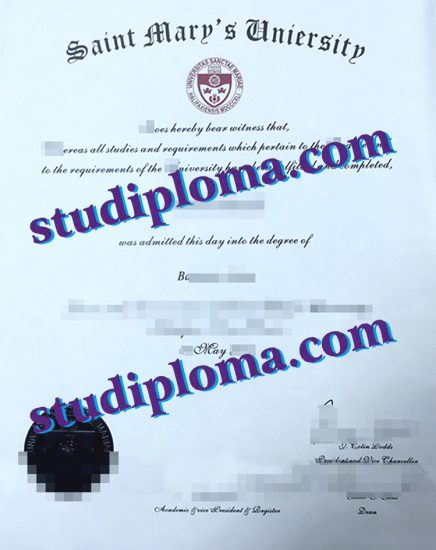st. Mary's university diploma