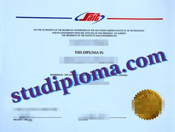 fake SAIT diploma