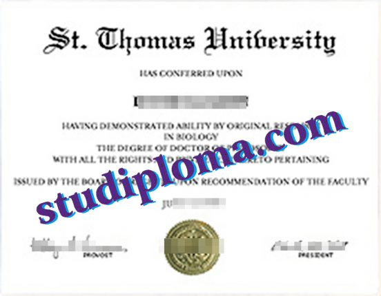 fake St. Thomas University diploma