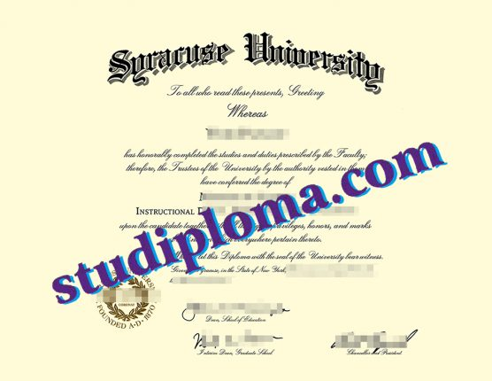 fake Syracuse university diploma