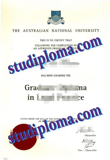 fake Australian National University diploma