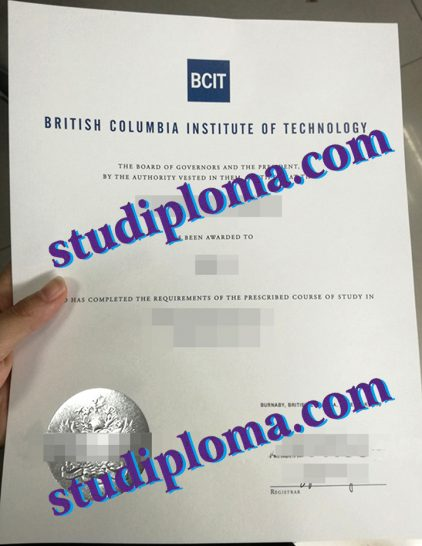 British Columbia Institute of Technology degree certificate