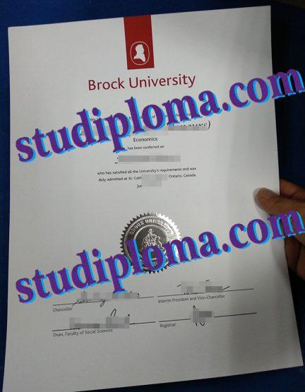 buy Brock University diploma
