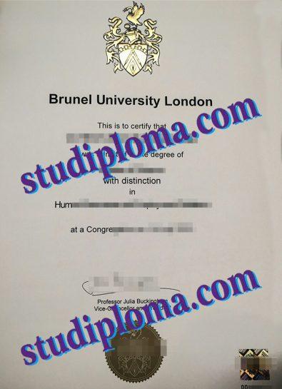 Brunel University certificate
