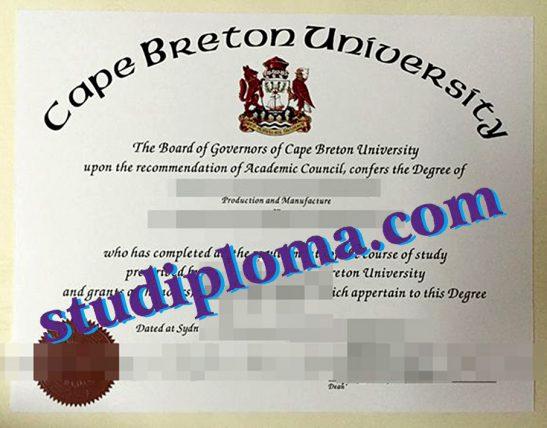 buy CBU diploma