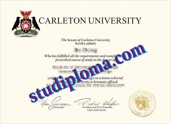 fake Carleton University diploma