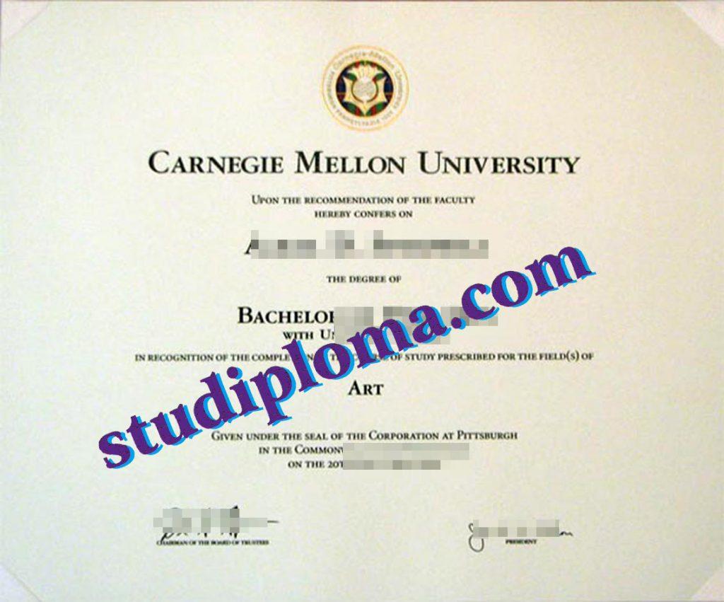 fake CMU diploma