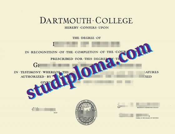 Dartmouth College diploma