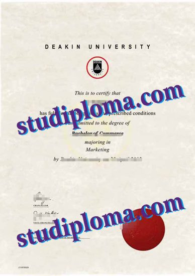 buy Deakin University diploma