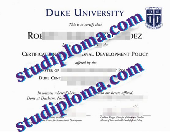 buy Duke University diploma