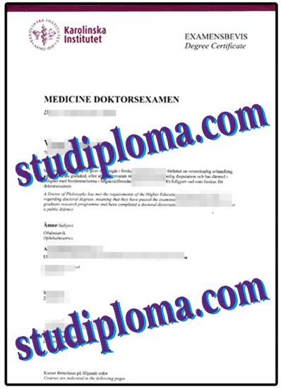 buy Karolinska Institute diploma