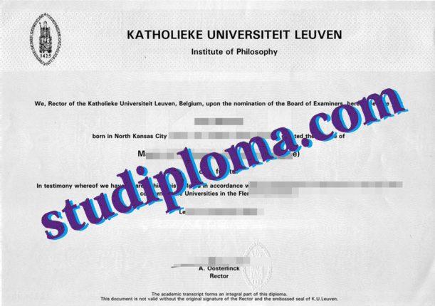 KUL diploma