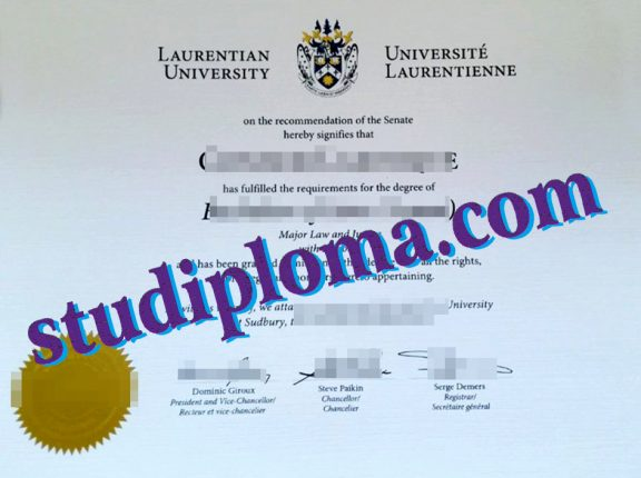 Laurentian University fake degree