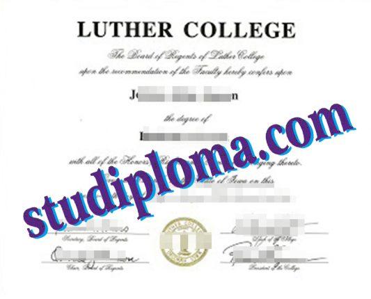 fake Lutheran College diploma