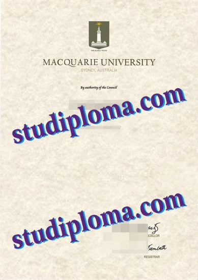 Macquarie University fake diploma