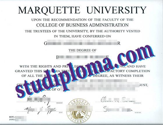 Marquette University diploma