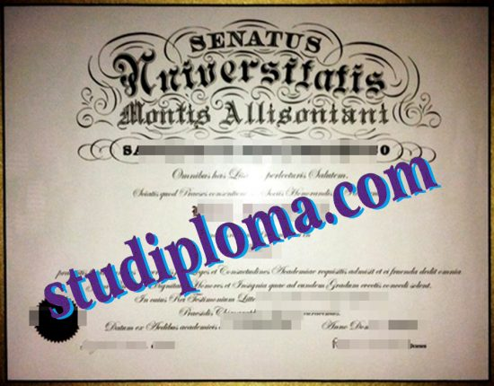 buy Mount Allison University diploma