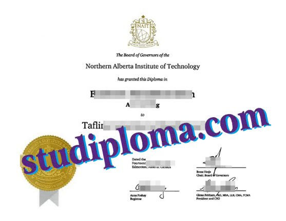 fake NAIT degree certificate