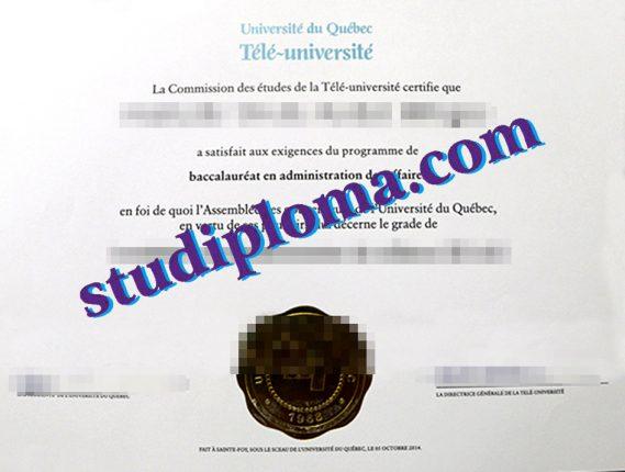 Université du Québec à Chicoutimi diploma