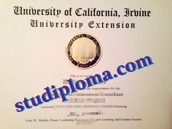 University of California, Irvine diploma