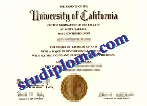 University of California, Santa Barbara fake diploma