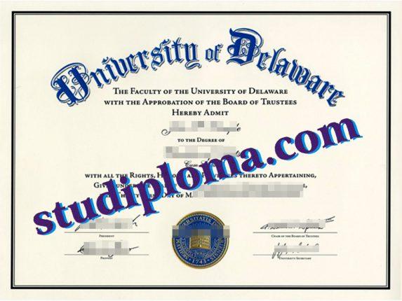 fake University of Delaware diploma