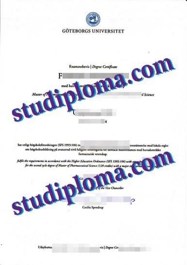 University of Gothenburg diploma