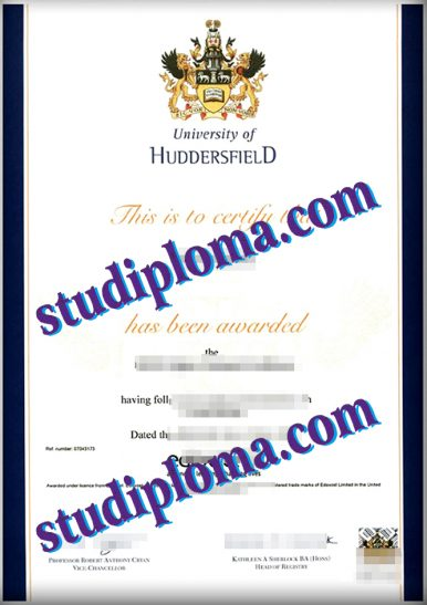 fake University of Huddersfield diploma