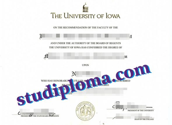 buy University of Iowa diploma