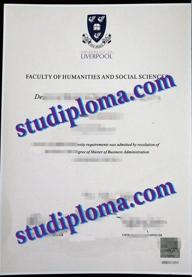 buy University of Liverpool diploma