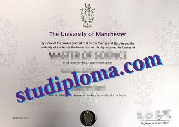 buy University of Manchester diploma