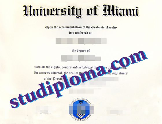 buy University of Miami diploma