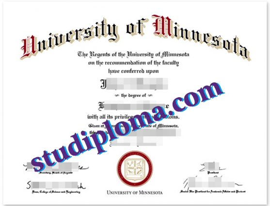 buy University of Minnesota diploma