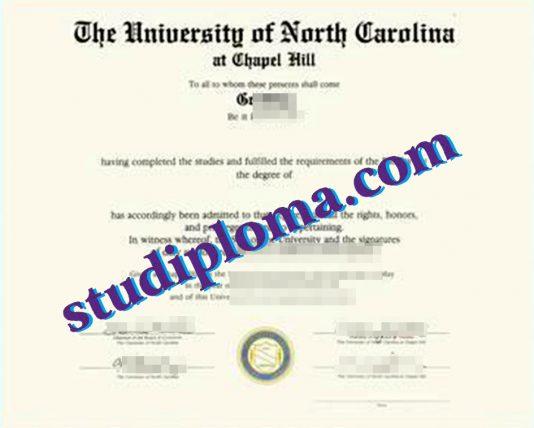 fake UNCCH diploma
