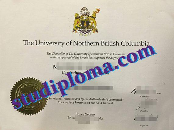 fake UNBC diploma