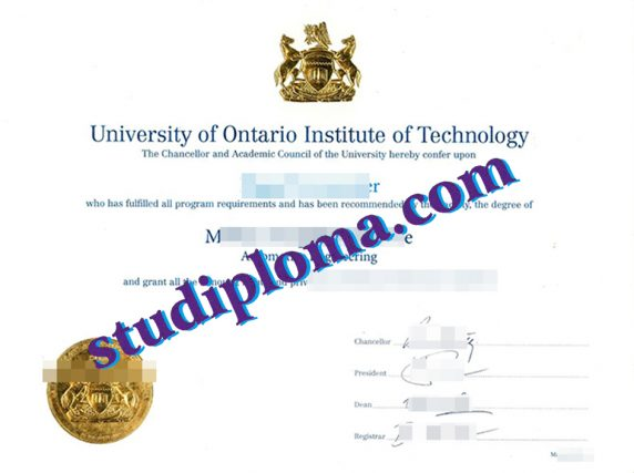 University of Ontario Institute of Technology diploma
