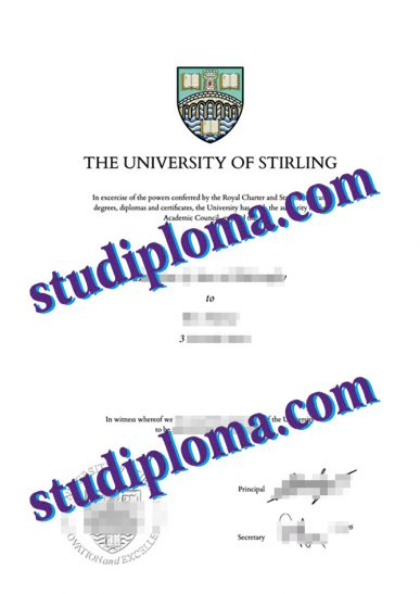 University of Stirling diploma