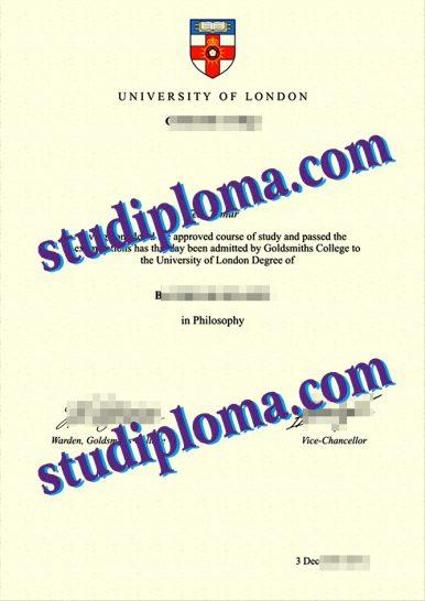Goldsmiths University of London diploma