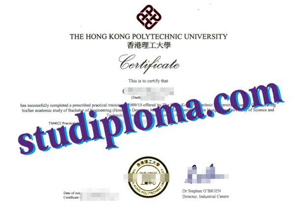 fake Hong Kong Polytechnic University diploma