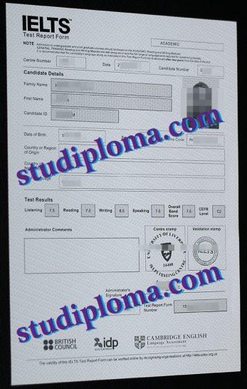 fake IELTS diploma