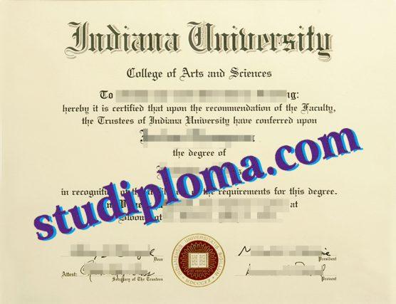 fake Indiana University Bloomington diploma