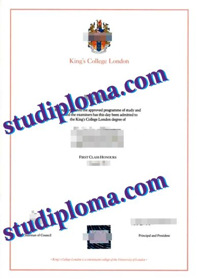 buy King's College London diploma