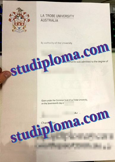 fake La Trobe University diploma