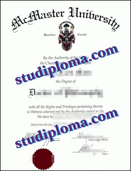McMaster University diploma
