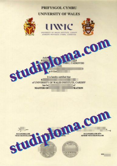 fake University of Wales Institute, Cardiff diploma