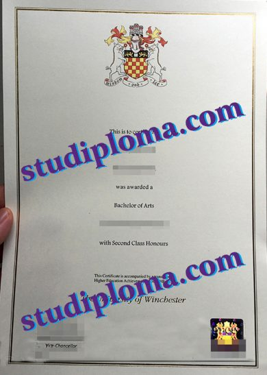 buy University of Winchester diploma certificate